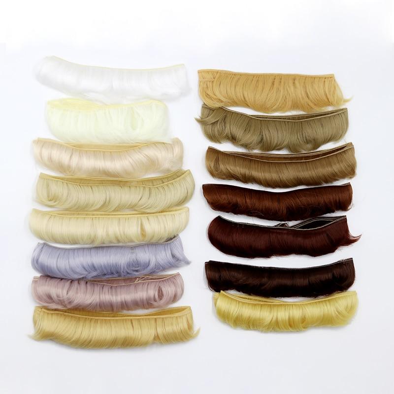 Msiredoll bjd peruca acessórios, 1 peça 5*100cm cabelo boneca para 1/3 1/4 bjd boneca diy franja boneca de cabelo frete grátis,