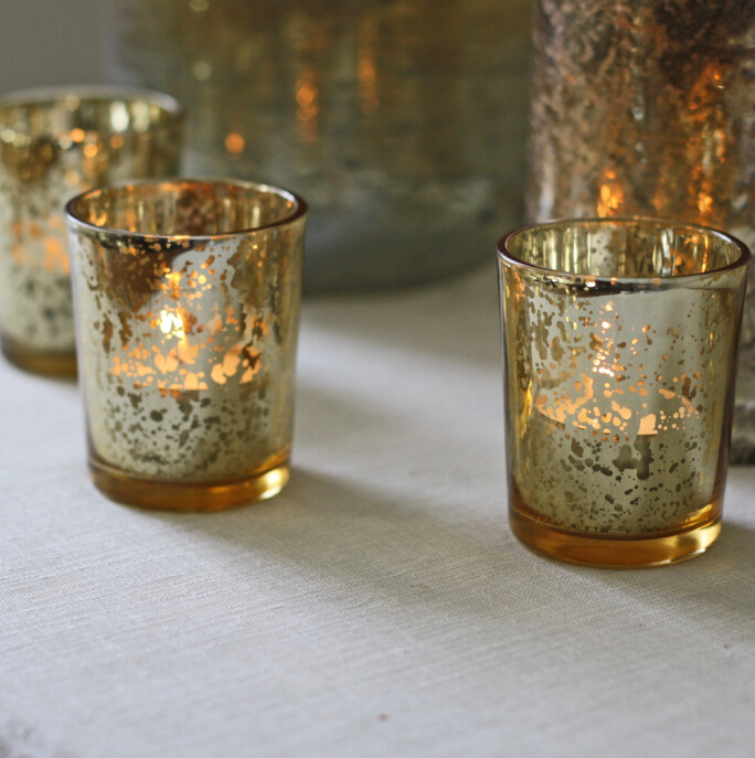 Trade Urance Antique Gold Tealight Holders 2 5 Inch