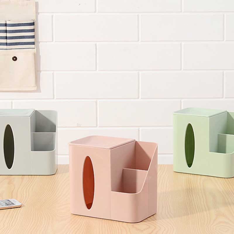 New High Quality Multi Functional Creative Paper Towel Box Living Room Dining Room Storage Box Desktop Plastic Tissue Box