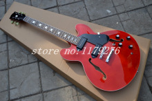 2013 New Arrival High-quality Jazz hollow body electric Guitar solid Red Electric Guitar free shipping!