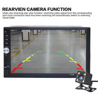 Bluetooth Stereo Mirror Link Radio Touch 2 Din AUX/USB/FM 7'' With Rear Camera MP5 Car Player Support Sreering Control 12V