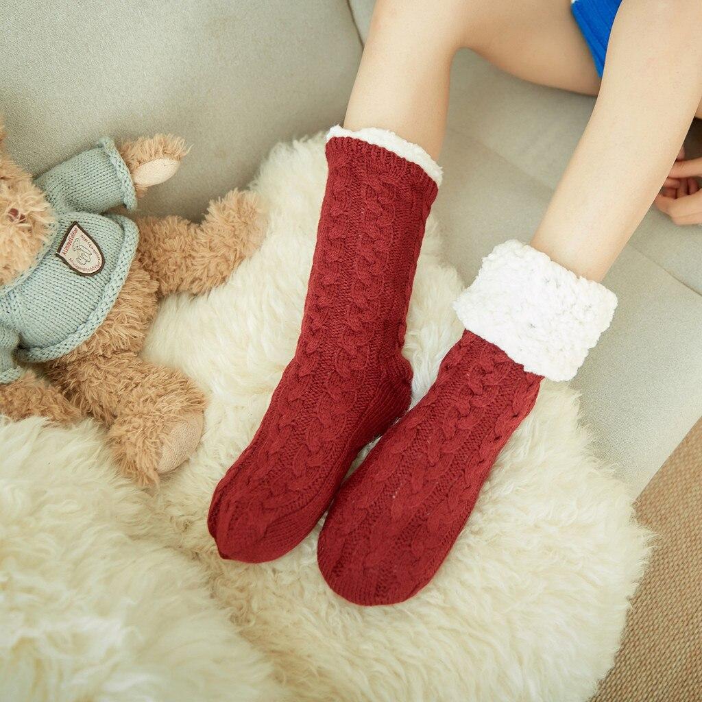 Winter Useful Keep Warm   Socks   Comfortable Women's Winter Super Soft Warm Cozy Fuzzy Fleece-lined Christmas Gift With Gripp
