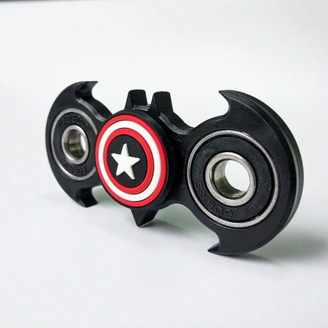 Batman and Captain America Fidget Spinner