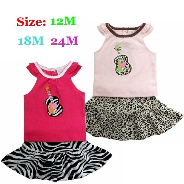 Смазливая зебра леопард лето ребенков комплектов одежды Infantil Roupas де Bebe Menina Conjuntos девочка комплект детский девочка одежда