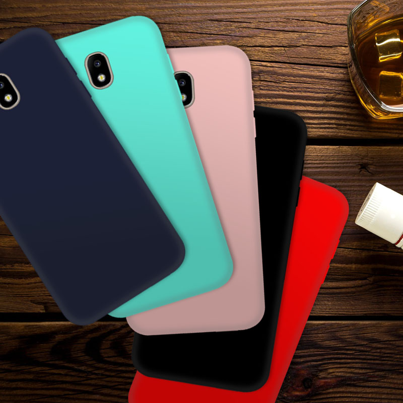 For Samsung Galaxy J7 2017 j730 Silicone Case TPU Soft Protector Back