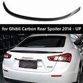 Для Maserati Ghibli задний спойлер из углеродного волокна задний Багажник крыло глянцевый черный Novitec стиль для Ghibli УГЛЕРОДНЫЙ Задний спойлер 2014-UP
