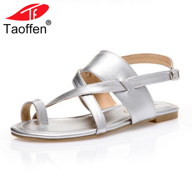 e547e72df TAOFFEN-Size-32-48-Vintage-Women-Flats-Sandals -Ankle-Strap-Solid-Color-Flats-Sandals-Summer-Club.jpg 640x640.jpg
