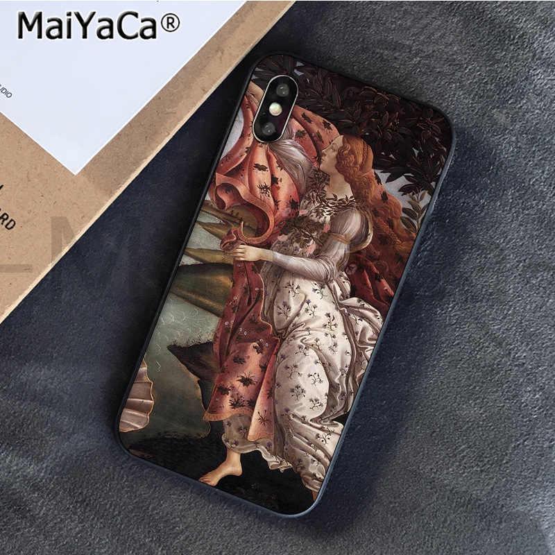 MaiYaCa художественные картины Рождение Венеры на заказ фото телефон чехол для Apple iphone 11 pro 8 7 66S Plus X XS MAX 5s SE XR чехол