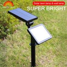 Солнечный светильник, точечный светильник, настенный, 48, светодиодная лампа, водонепроницаемая, Солнечная лампа, для улицы, для сада, аварийный, для газона, лампа, Solaire, светильник