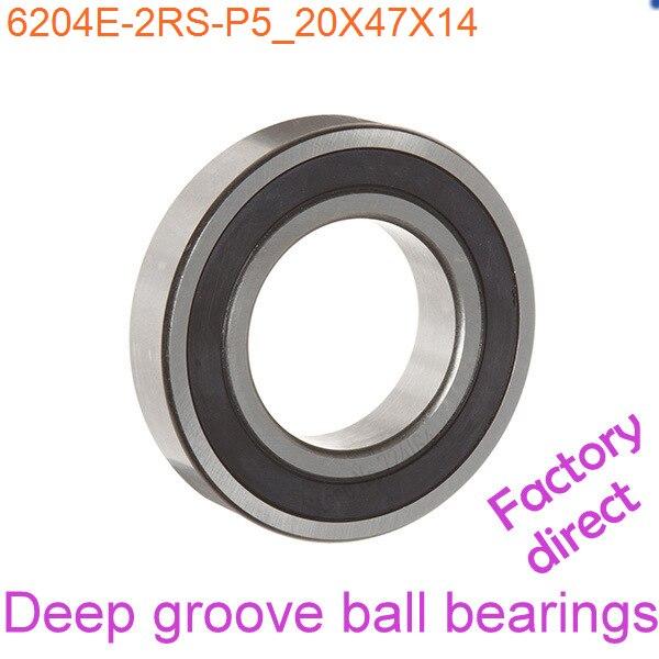 Rubber Deep Groove Radial Ball Bearing 6204-2RS 20mmx47mmx14mm 10PCS