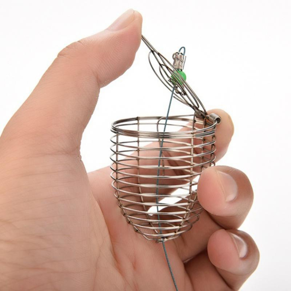 1PCS  Bait Cage Metal Stainless Steel Nesting Cage 4.5*5.7cm  4*4.6cm  3.4*3.6cm Bait Thrower Lure Trap Fishing Tackle