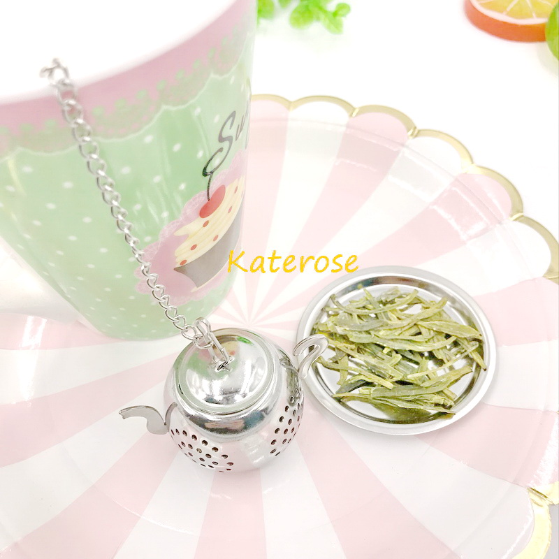 FREE SHIPPING 30pcs/Lot Tea Party Supplies Stainless Steel Round Teapot Tea Infusers Wedding Tea Strainer Favors-in Party Favors from Home & Garden    2