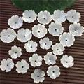 ib3252v1 10pcs Natural shell Carved Flowers 10mm, Shell 3D Bowl Flower Spacer Beads, Craft Jewelry Making Supply