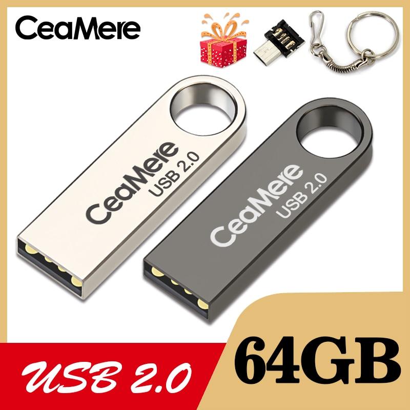 CeaMere C3 USB Flash Drive 16GB/32GB/64GB Pen Drive Pendrive USB 2.0 Flash Drive Memory Stick  USB Disk 3 Color USB FLASH DRIVE