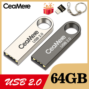 Image 1 - CeaMere C3 USB Flash Drive 16GB/32GB/64GB Pen Drive Pendrive USB 2.0 Flash Drive memory stick USB disk 3 di Colore USB FLASH DRIVE