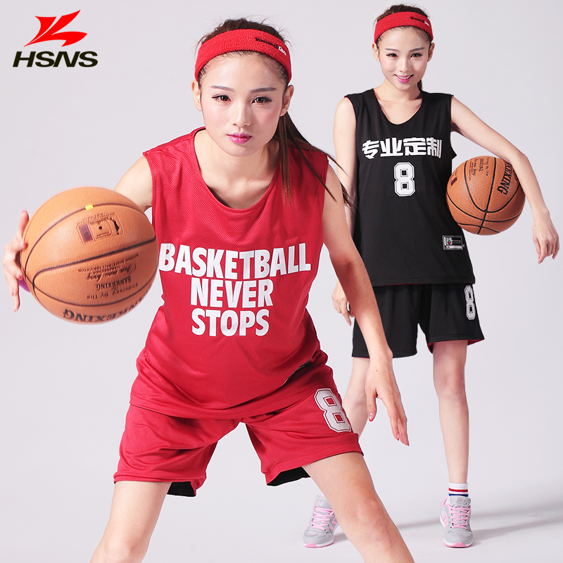 Reversible Jersey   Shorts 2PCS Women Basketball Jersey Set Girl Double  sided Sportswear Clothes Train Suit Dry Fit Custom LOGO-in Basketball  Jerseys from ... fe130a6eff