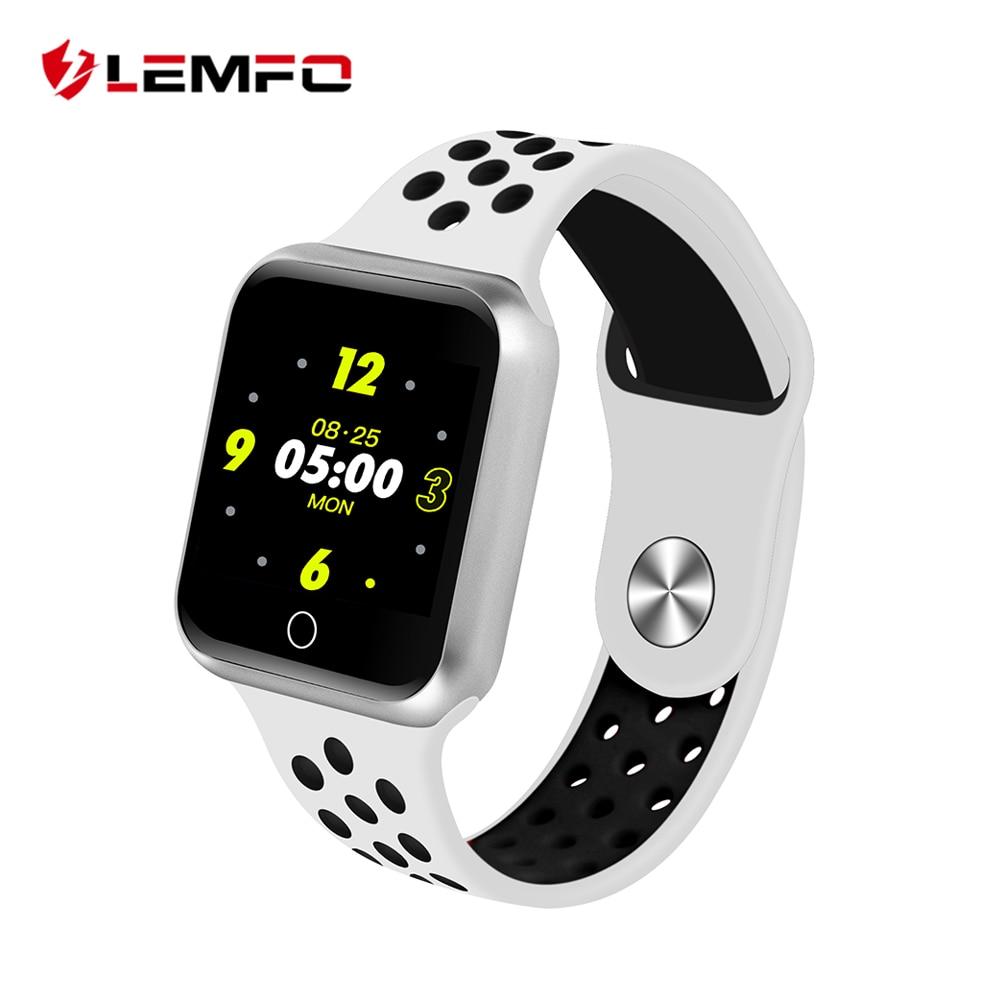 LEMFO 2018 reloj inteligente mujer hombres modos deportivos Bluetooth impermeable Monitor de ritmo cardíaco presión arterial para Iphone IOS Android