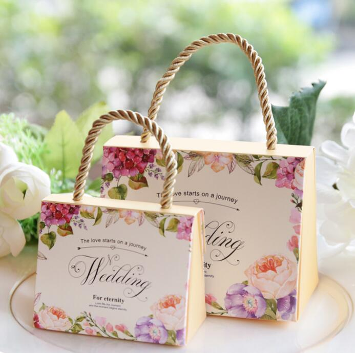 US $25 64 5% OFF|50PCS Wholesale Wedding Products Party Supplies  Valentine's Gift High quality Butterfly Flower Candy Boxes Favor Decoration  -in Party