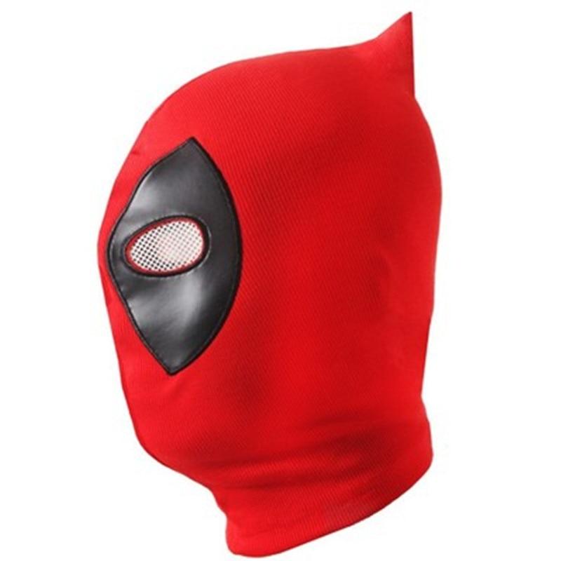 10pcs/lot New PU Deadpool Masks Superhero Balaclava Halloween Cosplay Costume X-men Hats Headgear Arrow Party Full Face Mask
