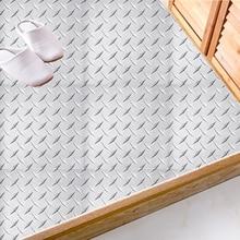 20*20cm DIY Steel Grain Floor Sticker Anti-Slip Removable Self-Adhesive Waterproof Wall Sticker Industrial Style tile sticker 20 20cm diy steel grain floor sticker anti slip removable self adhesive waterproof wall sticker industrial style tile sticker