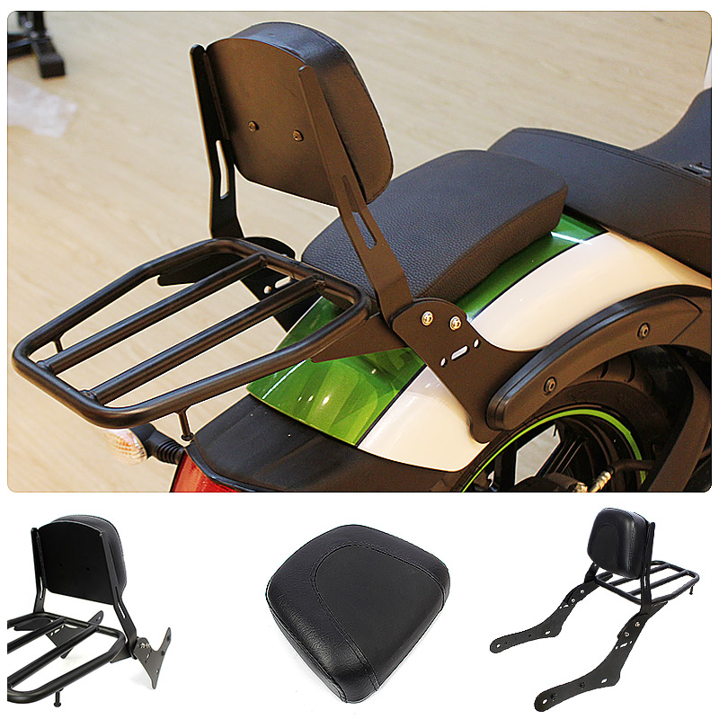 Motorcycle Accessories Backrest Luggage Rack Rear Passenger Seat Backrest For Kawasaki VN650 Vulcan S 650 S650 2015 2016 2017