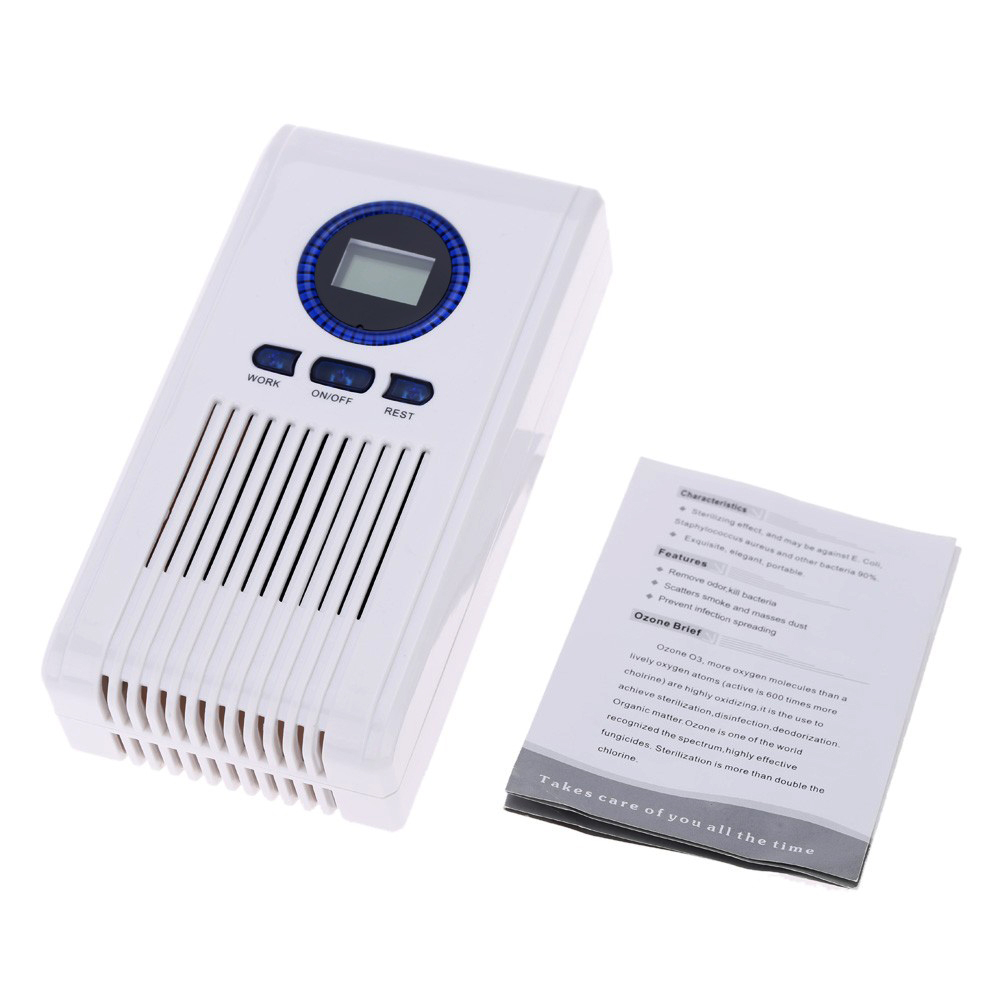 Alanchi Portable Ceramic Ozone Generator 220V/110V 100mg Ozonizer Air Water Air Purifier Toilet Deodorant