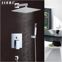 JIENI Good Quality Best Price Chrome Finish Bath Shower Mixer Faucet Set Single Handle Waterfall Rain Shower Set Faucets