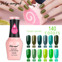LiLy Angel UV Gel Nail Polish 15ml Nude Soak Off Polished Lacquer Art Varnish 140 colors 73-108