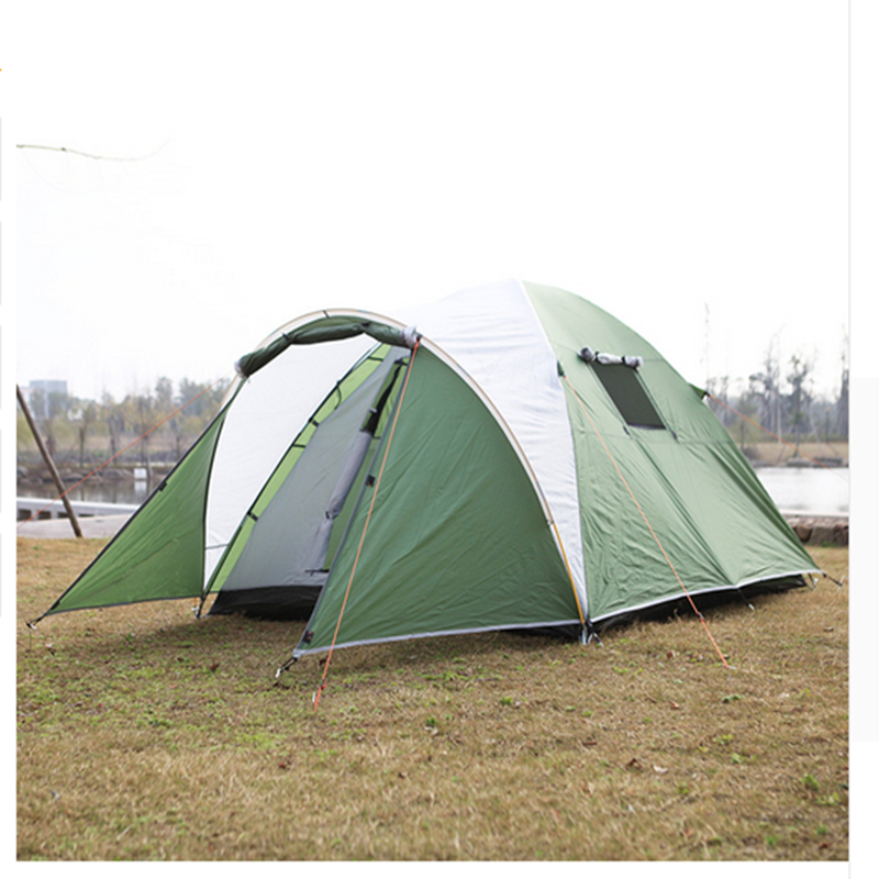 Portable Outdoor Tents for Camping 3-4 Person Outdoor Tents Waterproof Tourist Tent