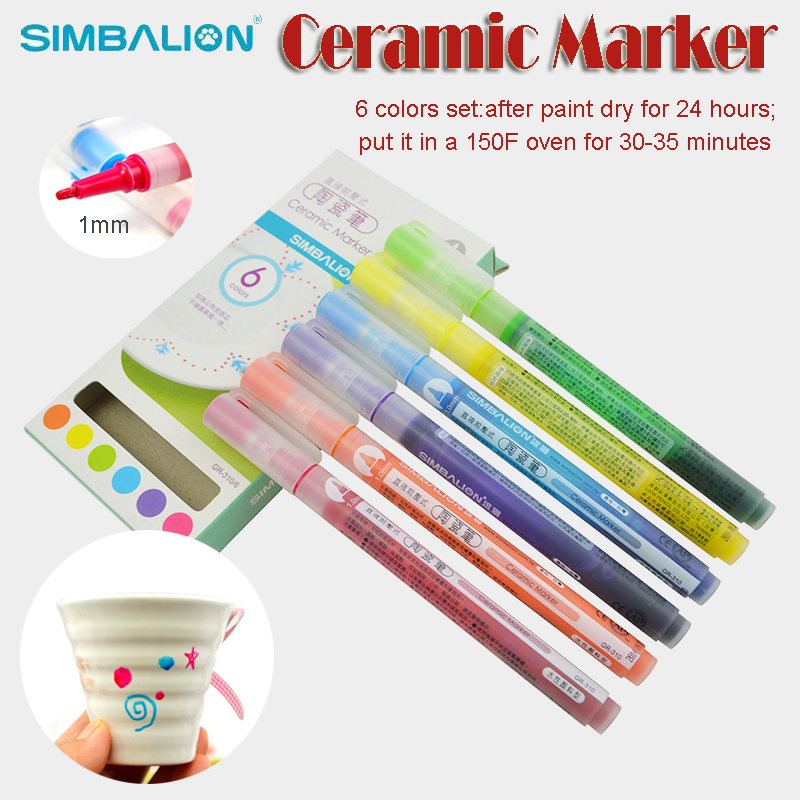simbalion ceramic marker set write on glass permanent metallic paint markers waterproof edding fine point pens for kids drawing write on labeled group aluminum lockout hasp
