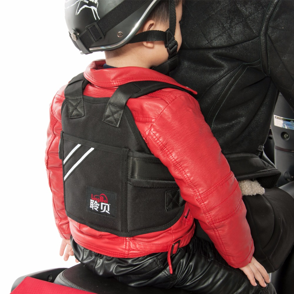 Durable children motorcycle safety harness kids carrier harness for travel riding adjustable child riding tool seat safe belt