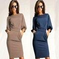 Женщины Мода Sexy Party С Коротким Рукавом Bodycon Slim Fit Dress Новое Прибытие