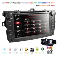 8 Inch Touchscreen Car DVD Player GPS Navigation Stereo for Toyota Corolla 2007 2008 2009 2010 2011 In Dash AV Receiver w / dab+