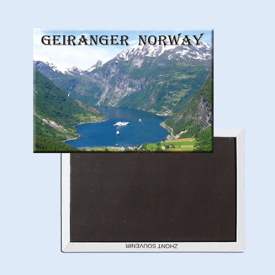 Magnetni hladilniki Geiranger-Fjord-Norveška 21510 naravno območje Turistično darilo