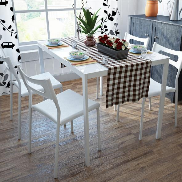 Simple And Stylish White Dining Office Chair Non Slip Waterproof Moisture Proof Free Shipping