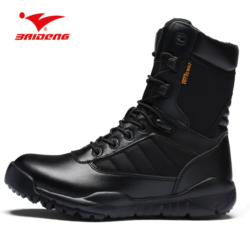 2018 Outdoor Black Army Boots Men's Military Desert Tactical Boot Shoes Breathable Combat Ankle Boots Botas Tacticos Zapatos