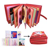 Baby Cloth Book Handmade Material Package Parent child Toy Montessori Free Cut Cloth Book Toy Baby Cognitive Reading