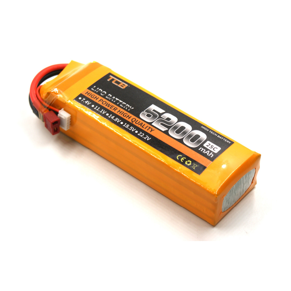 TCB lipo font b battery b font 18 5 V 5200mAh 25C 5s for rc airplane