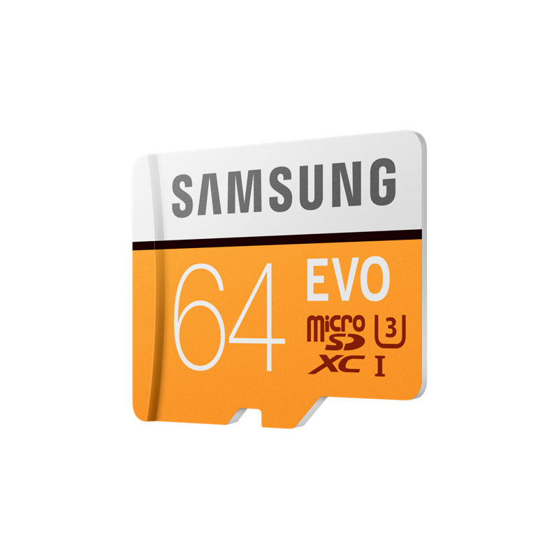 SAMSUNG EVO Micro SD Memory Card 64GB Class10 microSDXC U3 UHS-I C10 TF Card 100MB/s HD for Smartphone Tablet with Adapter