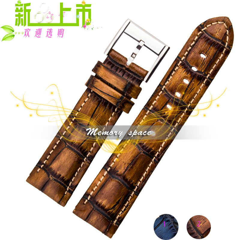 Durable men women Genuine Leather watch strap for men women 18mm 20mm 22 mm genuine leather