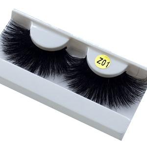 Image 3 - long hair 25mm Lashes Eyelashes 3D Mink Lashes Makeup Handmade Full Strip Mink Eyelashes Soft Fluffy Eyelashes Full Volume lash
