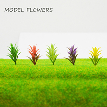 Teraysun 25mm Hot sale artificial flowers for model trains ho scale layout/plastic flower