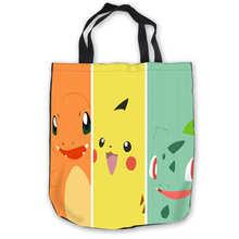 Custom Canvas Pikachu Pokemon (1)ToteBags Hand Bags Shopping