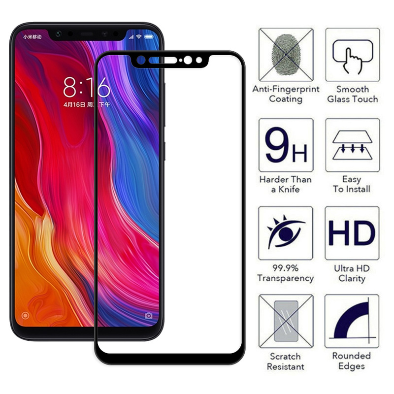 5D Tempered Glass For Xiaomi Pocophone F1 Mi 8 Glass For Xiaomi 6X A2 A1 6 5X MIX 2 For Redmi 4X 5 Screen Protector Full Screen