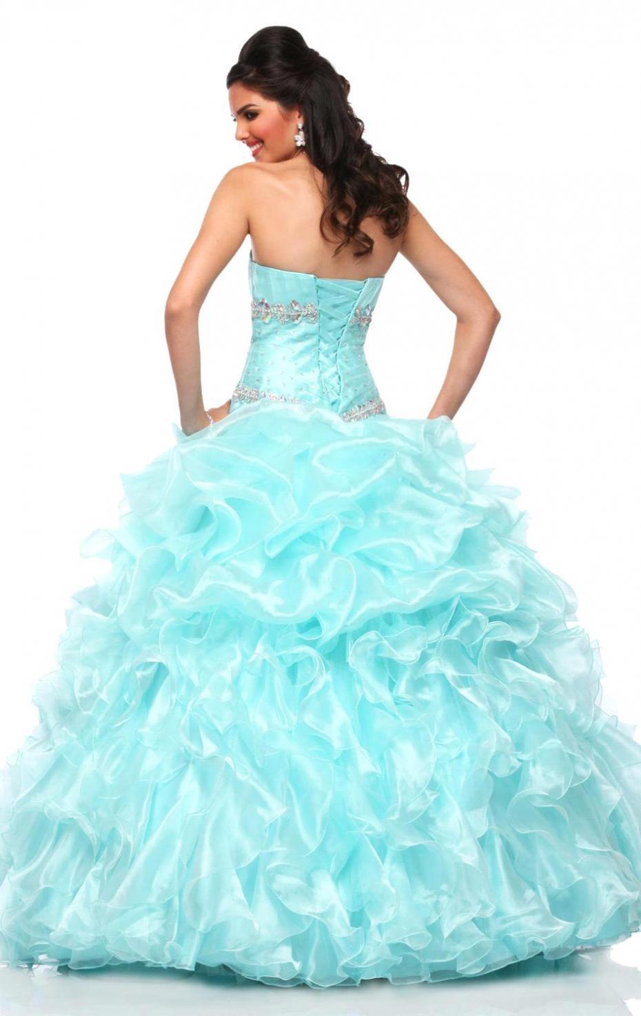 Puffy Dresses Aqua
