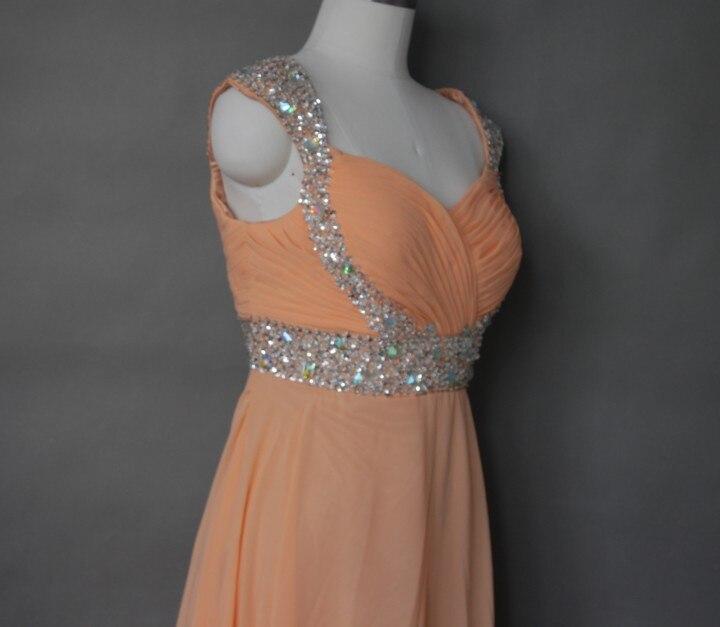 Sexy chiffon spiaggia abito da sposa Arancione in rilievo nero abiti da sposa treno su misura coda D25 #