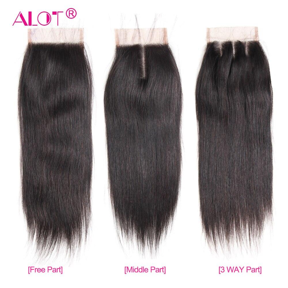 HTB1KFrJCb1YBuNjSszhq6AUsFXad Alot Peruvian Straight Hair Bundles With Closure 3 Bundles With Closure Human Hair Weave Bundles With Closure Non Remy 4 Pcs/lot