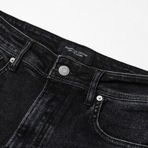Image 3 - SIMWOOD 2020 bahar kış yeni kot erkekler Slim Fit moda delik kot sıska yırtık pantolon artı boyutu rahat NC017015
