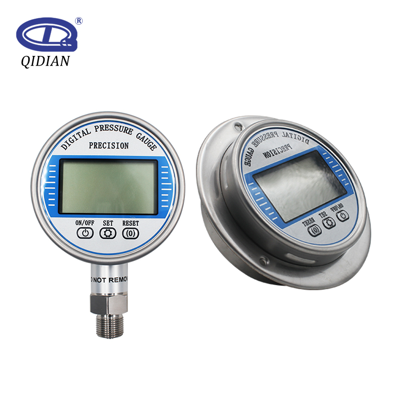 5 Digits High Precision Digital Pressure Gauge Psi/Kpa/Bar/kg 100mm Diameter 0-60Mpa Vacuum Battery-Powered Water Pressure Gauge