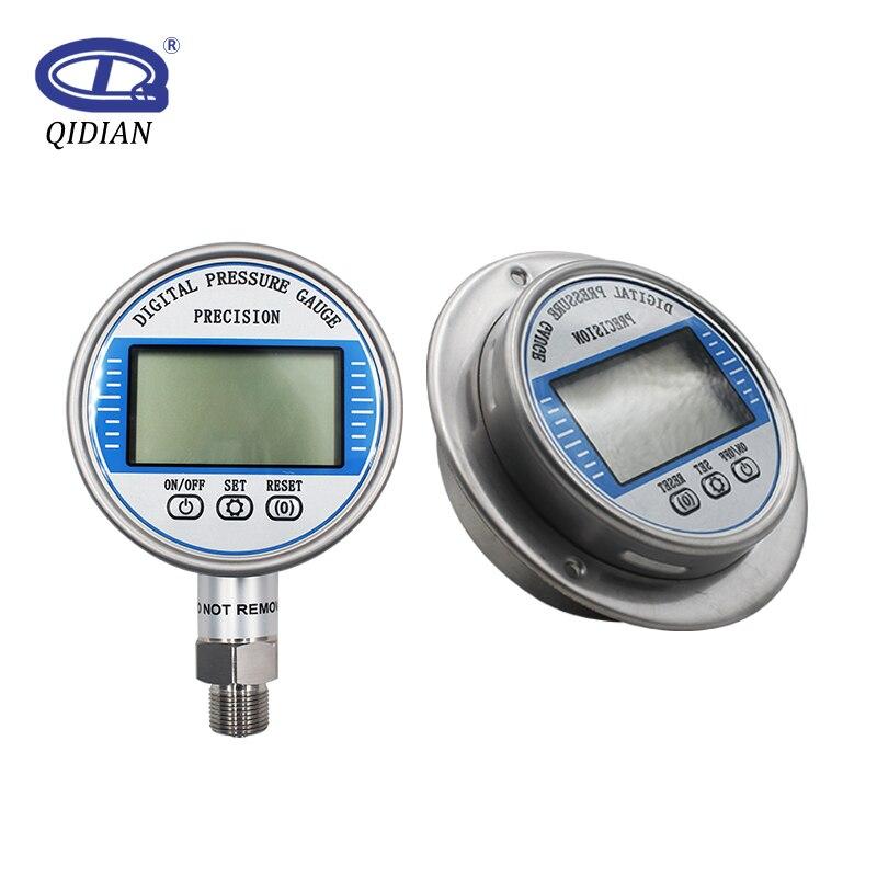 Manomètre numérique haute précision 5 chiffres psi/Kpa/Bar/kg 100mm diamètre 0-60Mpa jauge de pression d'eau alimentée par batterie sous vide
